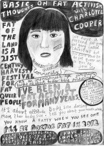 """I'll Be a Doctor Fat:"" Charlotte Cooper poster by ""d.i.y."" London artist Lady Lucy"